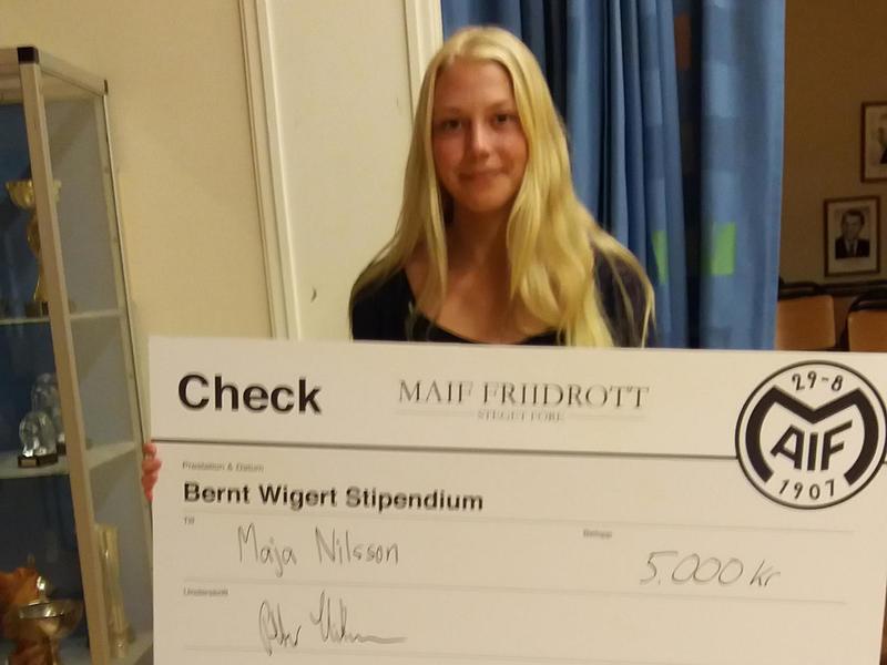 Maja Nilsson – årets stipendiat!
