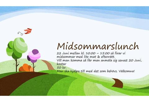 Midsommarlunch på Motala Fontänhus
